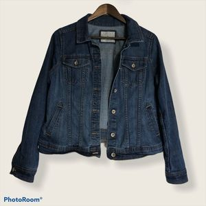 Sonoma Lifestyle Blue Jean Jacket Women's Size Med